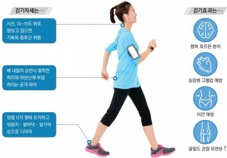 시속 5~7㎞ 속도로 빠르게 걷는 운동습관을 가진 사람은 모든 원인에 의한 사망 위험이 24% 감소했다.